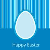 μπλε κάρτα Πάσχα ελεύθερη απεικόνιση δικαιώματος