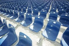 μπλε καθίσματα Στοκ φωτογραφία με δικαίωμα ελεύθερης χρήσης