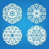 μπλε καθορισμένο snowflake Στοκ Εικόνες