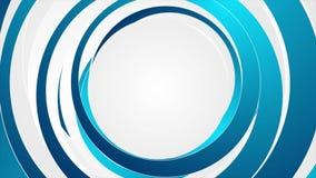 Μπλε και άσπρη αφηρημένη τηλεοπτική ζωτικότητα κύκλων απόθεμα βίντεο