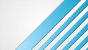 Μπλε και άσπρη ριγωτή αφηρημένη τηλεοπτική ζωτικότητα τεχνολογίας φιλμ μικρού μήκους