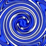 Μπλε και άσπρη υπνωτική δίνη, swirly σχέδιο στο μπλε χρώμα Στοκ εικόνα με δικαίωμα ελεύθερης χρήσης