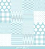 Μπλε και άσπρο πρότυπο Στοκ εικόνα με δικαίωμα ελεύθερης χρήσης