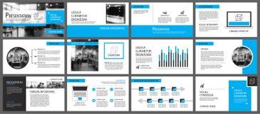 Μπλε και άσπρο στοιχείο για τη φωτογραφική διαφάνεια infographic στο υπόβαθρο pres Στοκ φωτογραφίες με δικαίωμα ελεύθερης χρήσης