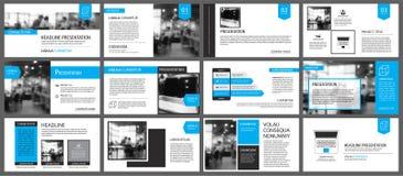 Μπλε και άσπρο στοιχείο για τη φωτογραφική διαφάνεια infographic στο υπόβαθρο pres διανυσματική απεικόνιση