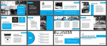 Μπλε και άσπρο στοιχείο για τη φωτογραφική διαφάνεια infographic στο υπόβαθρο pres Στοκ Φωτογραφία