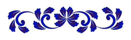 Μπλε και άσπρο στοιχείο λουλουδιών Στοκ Φωτογραφία