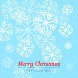 Μπλε και άσπρο υπόβαθρο με snowflakes επίσης corel σύρετε το διάνυσμα απεικόνισης Στοκ φωτογραφία με δικαίωμα ελεύθερης χρήσης