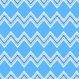 Μπλε και άσπρο ikat άνευ ραφής σχέδιο υφάσματος διακοσμήσεων γεωμετρικό αφηρημένο, διάνυσμα Στοκ φωτογραφία με δικαίωμα ελεύθερης χρήσης