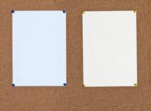 Μπλε και κίτρινα φύλλα του εγγράφου για το φελλό στοκ εικόνα με δικαίωμα ελεύθερης χρήσης