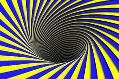 Μπλε και κίτρινη αφηρημένη μαύρη τρύπα υποβάθρου Στοκ φωτογραφίες με δικαίωμα ελεύθερης χρήσης