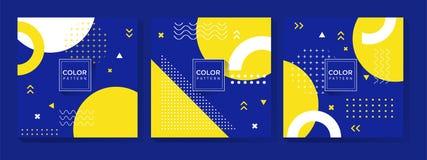 Μπλε και κίτρινο σχέδιο σχεδίων διανυσματική απεικόνιση