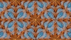 Μπλε και καφετί αφηρημένο συμμετρικό υπόβαθρο για την εκτύπωση clo Στοκ φωτογραφίες με δικαίωμα ελεύθερης χρήσης