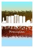 Μπλε και λευκό οριζόντων του Μπέρμιγχαμ διανυσματική απεικόνιση