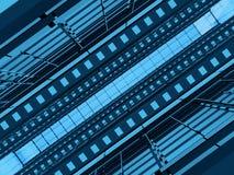 Μπλε και μαύρη αρχιτεκτονική ελεύθερη απεικόνιση δικαιώματος