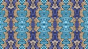 Μπλε και μπεζ αφηρημένο συμμετρικό υπόβαθρο για την εκτύπωση clo Στοκ Εικόνα