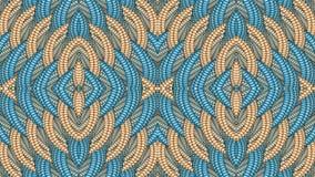 Μπλε και μπεζ αφηρημένο συμμετρικό υπόβαθρο για την εκτύπωση clo Στοκ φωτογραφίες με δικαίωμα ελεύθερης χρήσης