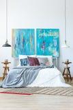 Μπλε και πορφυρό χρώμα σχεδίου Στοκ Φωτογραφίες