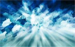 Μπλε και πράσινο υπόβαθρο χρωστικών ουσιών δεσμών στοκ εικόνα με δικαίωμα ελεύθερης χρήσης