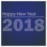 Μπλε καλή χρονιά 2018 από μικρά snowflakes eps10 Στοκ φωτογραφίες με δικαίωμα ελεύθερης χρήσης