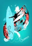 μπλε καλοκαίρι ανασκόπη&sig Στοκ φωτογραφίες με δικαίωμα ελεύθερης χρήσης