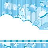 μπλε καλοκαίρι ανασκόπη&sig απεικόνιση αποθεμάτων