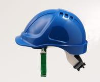 μπλε καπέλο κατασκευής στοκ φωτογραφία