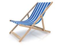 Μπλε καρέκλα παραλιών Στοκ εικόνες με δικαίωμα ελεύθερης χρήσης