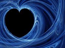 μπλε καρδιά ανασκοπήσεω& Στοκ φωτογραφίες με δικαίωμα ελεύθερης χρήσης