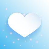 Μπλε καρδιά εγγράφου. Χρήση για την παρουσίαση Στοκ Φωτογραφίες