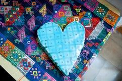 Μπλε καρδιά ημέρας βαλεντίνων ` s Στοκ Εικόνα