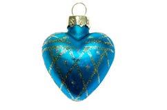 Μπλε καρδιά παιχνιδιών Χριστουγέννων. Στοκ φωτογραφία με δικαίωμα ελεύθερης χρήσης