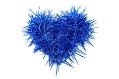 μπλε καρδιά Στοκ εικόνες με δικαίωμα ελεύθερης χρήσης