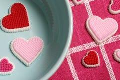 μπλε καρδιές κύπελλων Στοκ Εικόνες