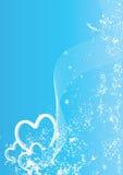 μπλε καρδιές απεικόνιση αποθεμάτων