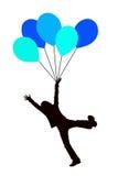 μπλε κατσίκι μπαλονιών απεικόνιση αποθεμάτων