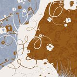 μπλε καφετί λευκό ανασκό& Στοκ Εικόνες