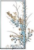 μπλε καφετί πλαίσιο ορθ&omic Στοκ Εικόνες