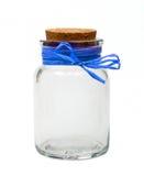 μπλε κενή κορδέλλα βάζων στοκ εικόνες