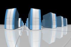 μπλε κεντρικοί υπολογ&iot Στοκ φωτογραφία με δικαίωμα ελεύθερης χρήσης