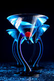 μπλε κεράσι τέσσερα martini Στοκ φωτογραφία με δικαίωμα ελεύθερης χρήσης