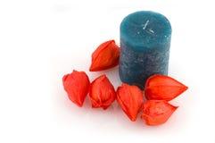 μπλε κερί Στοκ Φωτογραφία