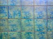 Μπλε κεραμίδια χρώματος Στοκ φωτογραφία με δικαίωμα ελεύθερης χρήσης