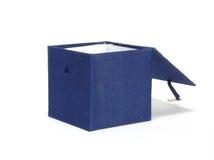 μπλε κιβώτιο ανοικτό Στοκ φωτογραφία με δικαίωμα ελεύθερης χρήσης