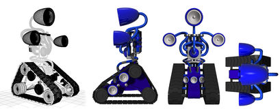 μπλε κιβώτιο βραχιόνων διανυσματική απεικόνιση