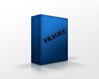 μπλε κιβώτιο Στοκ εικόνα με δικαίωμα ελεύθερης χρήσης