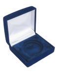 μπλε κιβώτιο jewely Στοκ εικόνες με δικαίωμα ελεύθερης χρήσης