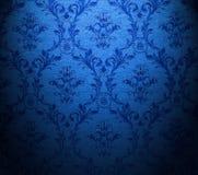 μπλε κλασική ταπετσαρία στοκ φωτογραφία