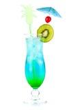 μπλε κοκτέιλ αλκοόλης τ& Στοκ εικόνα με δικαίωμα ελεύθερης χρήσης