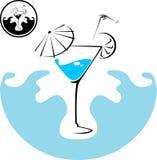 μπλε κοκτέιλ martini Στοκ Φωτογραφίες